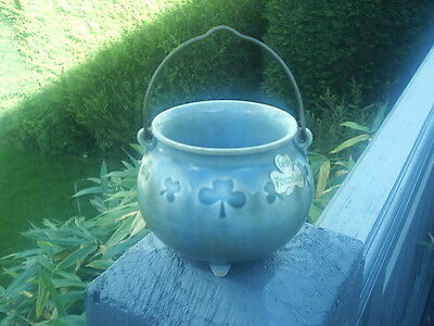 IRISH Porcelain WADE Shamrock POTTERY WITCHES CAULDRON  EXCELLENT Cond HALLOWEEN