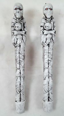 MUMMY & Baby Wax Taper Candles (set of 2) Halloween Festive Decor Gothic