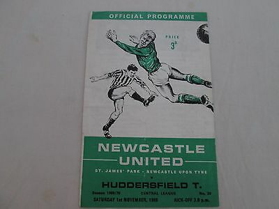 1969-70 CENTRAL LEAGUE RESERVES NEWCASTLE UNITED v HUDDERSFIELD TOWN