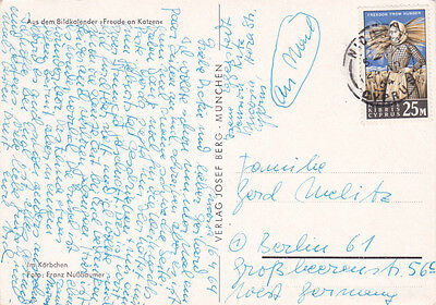 Postcard Cyprus Freedom From Hunger 25M Stamp 1964  To Germany