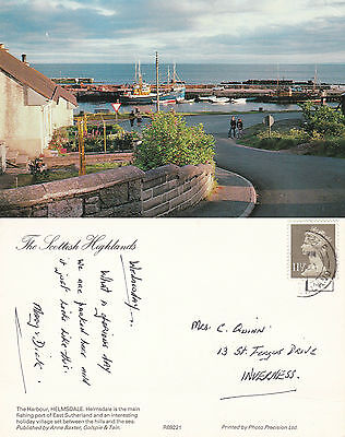 1970's THE HARBOUR HELMSDALE SUTHERLAND SCOTLAND COLOUR POSTCARD
