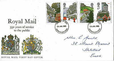 30 July 1985 Royal Mail 350 Years Royal Mail First Day Cover Bournemouth Fdi