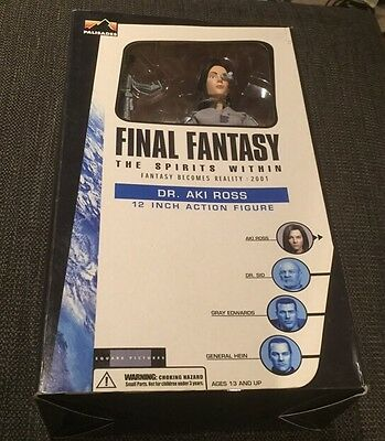 """Final Fantasy DR. AKI ROSS Action Figure BOXED 12"""" Brand New And Sealed"""