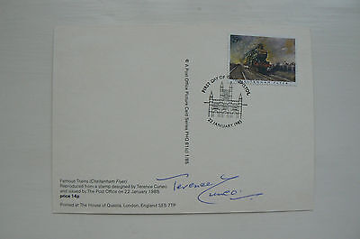 1985 Phq Card Famous Trains Cheltenham Flyer Signed Terence Cuneo
