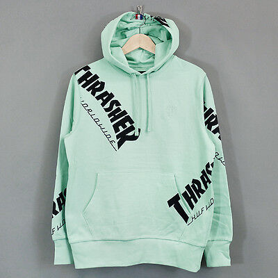 HUF x Thrasher TDS All Over Print Hoodie Mint