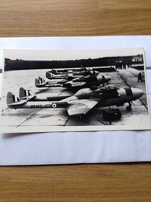 Ww2 Aircraft Photo Dehaviland Vampire Lineup