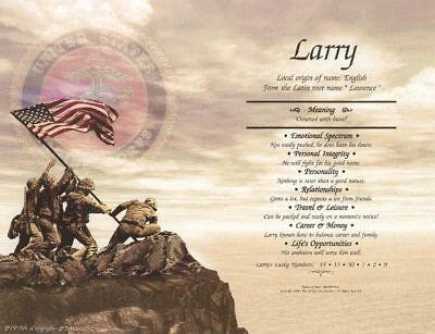 Marines Flag Personalized Name Meaning Print