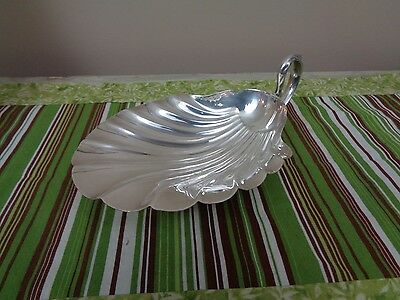 "Fisher Silverplate Shell Bon Bon Bowl 8 7/8"" K163 EXC"