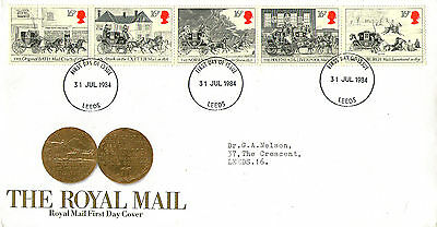 31 July 1984 Royal Mail Coaches Royal Mail First Day Cover Leeds Fdi