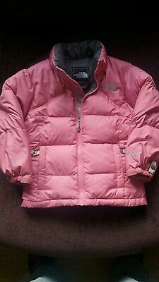 girls pink north face jacket coat 3-4 years