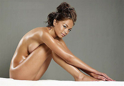 w1 Kristen Kreuk nude covered up A4 glossy photo