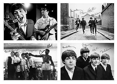 Beatles + Cassius Clay 4 pre print signed 7x5 glossy photos