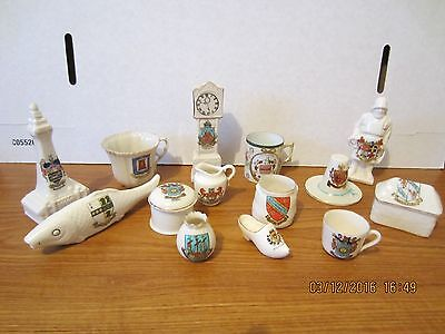 12 Pieces Assorted Crested China