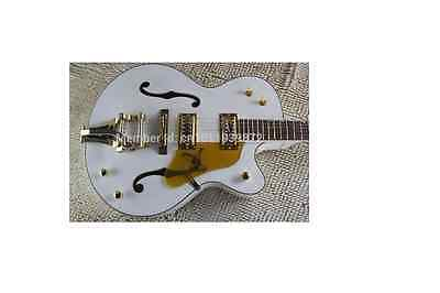 Gretsch G6136 White Falcon Lacquer Hollow Body Electric Guitar Bigsby Custom