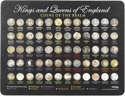 Kings and Queens of England Coins Mouse Mat