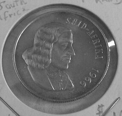 1966 South African uncirculated one Rand