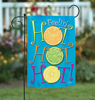 Toland Stay Cool Lemonade 12.5 x 18 Yellow Lemon Summer Drink Garden Flag