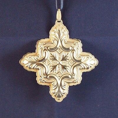 """Vintage Sterling 1993 Silver Reed and Barton """"Christmas Cross"""" Ornament"""
