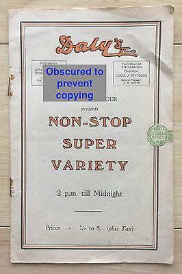 Vintage 1932 Daly's Theatre Programme Variety Show Leicester Square