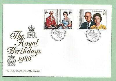 Isle of Man IOM First Day Cover FDC 1986 The Royal Birthdays