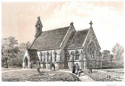 The Church of St Margaret, Tyler's Green, High Wycombe, Bucks - Lithograph 1851