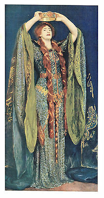 Dame Ellen Terry (As Lady Macbeth) Lithograph after John Singer Sargent, R.A.