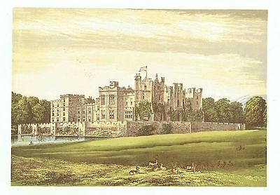 Raby Castle, Nr Staindrop, Durham - Seat of the Duke of Cleveland -WB Eng. c1865
