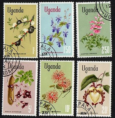 Uganda stamps. 1969 Flowers. Cancelled