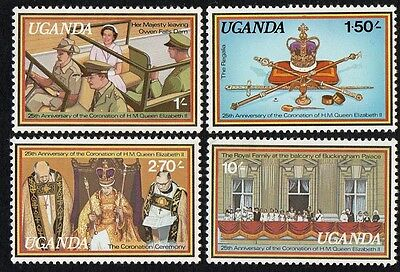 Uganda stamps. 1979 The 25th Anniversary of Coronation of Queen Elizabeth II