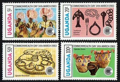 Uganda stamps. 1983 Commonwealth Day - Cultural Art. MNH