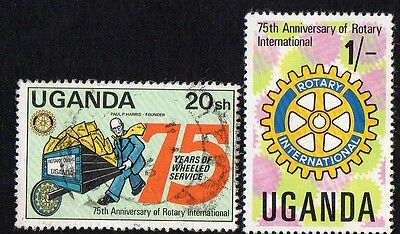 Uganda stamps.  1980 The 75th Anniversary of Rotary International. Cancelled