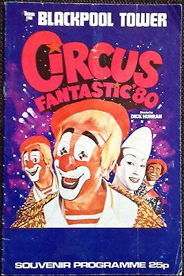 Blackpool Tower Circus programme 1980