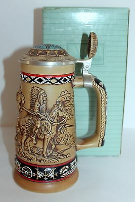 Indians of the American Frontier 1988 Avon Stein Collectible by Ceramarte
