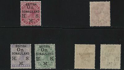 Somaliland British Official Issues, O1-O3, MLH.n7