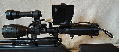 Night Sight Night Vision Scope Add On - onboard battery system & only 1 cable