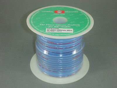 GS Racing 12 AWG Ultimate Giga-V Silicone Wire, 665/0.08mm, 100 feet, Light BLUE
