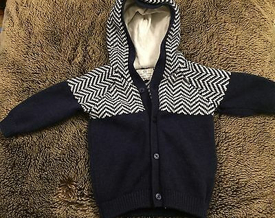 Next Baby Boys thick cardigan 0-3 Months
