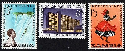 Zambia stamps. 1964 Independence. MH