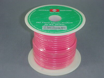 GS Racing 12 AWG Ultimate Giga-V Silicone Wire, 665/0.08mm, 100 feet, FL-Red