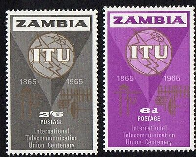 Zambia stamps.  1965 The 100th Anniversary of the ITU. MH