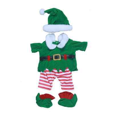 Elf Costume Christmas outfit clothing fits Build a Bear clothes fit 15in Bears