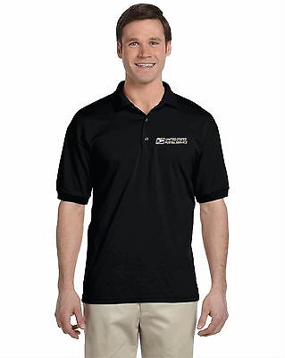 USPS POSTAL SPORT Black POLO SHIRT EMBROIDERED POSTAL LOGO ON CREST Sm-2XL