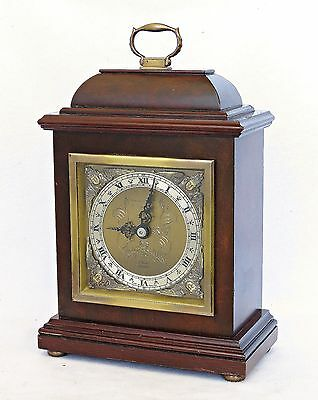 Vintage Elliott Mantel Bracket Clock Serviced & Working Well, Fine Mahogany Case