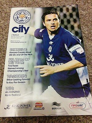Leicester City vs Watford 2011 programme