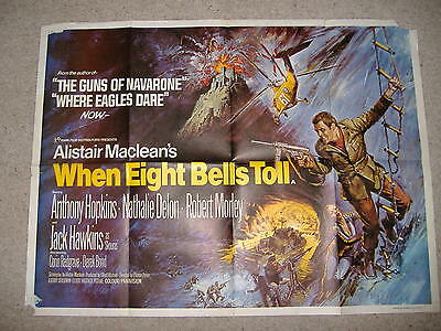 When Eight Bells Toll uk quad 1971  Anthony Hopkins   Alistair Maclean