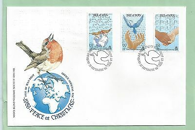 Isle of Man IOM First Day Cover FDC 1986 Peace at Christmas Noel Weihnachten