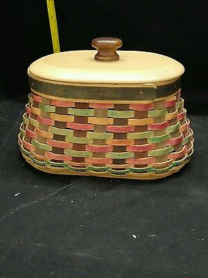 Longaberger Collector's Club American Craft Traditions Fireside Basket w/Lid 4x8
