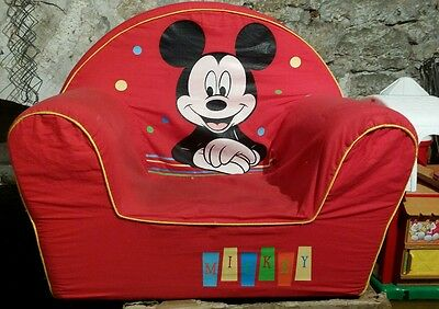 fauteuil enfant mickey