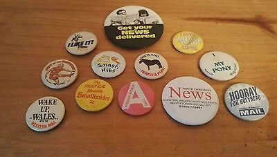 12 Newspaper & Magazine Themed pin badges from collection of 1100+