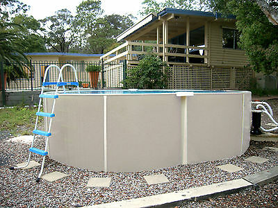 ABOVE GROUND SWIMMING POOL PACKAGE 4.5mx3mx1.32m  FREE FUN PACK AUST MADE